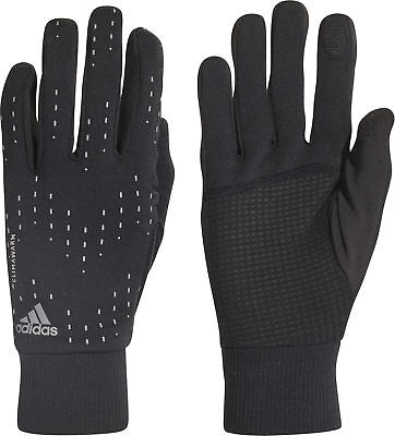 adidas ClimaWarm Mens Womens Insulated Winter Running Gloves - Black