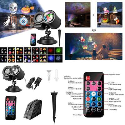 Led Projector Lights, Wave Projector Light With 12 Slides Pattern 2 In 1 Outdoor