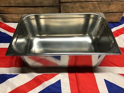 GN 1/1 200mm Deep Heavy Duty Stainless Steel Gastronorm NEW
