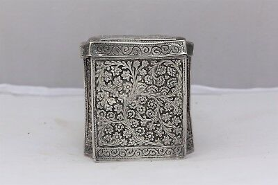 Indian Kashmiri Solid Silver Box 186 Grammes