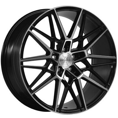 22 Inch Axe Ex20 5x112 Et20 9j Black Alloy Wheels Audi Q7 Bmw 7