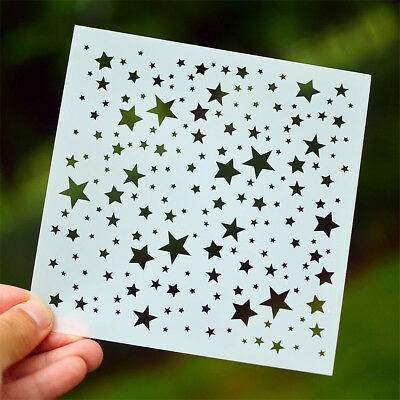 star layering stencils diy scrapbooking album masking painting template tool QZ