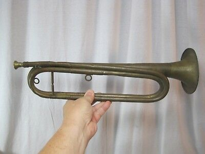 Vintage Military Bugle With Brass Mouth Piece - Spanish American War?  B9500