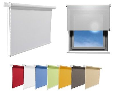 Window Roller Blinds Choice of 19 Width Sizes and 8 Colours 200cm Length/Drop