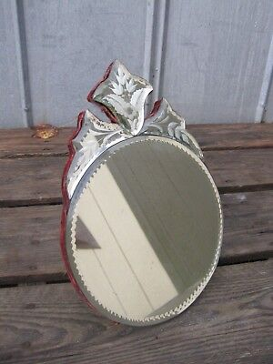 Antique Art Deco Nouveau Dresser Mirror B9503