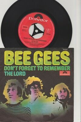 Bee Gees - Don't Forget To Remember / The Lord GER 7´´