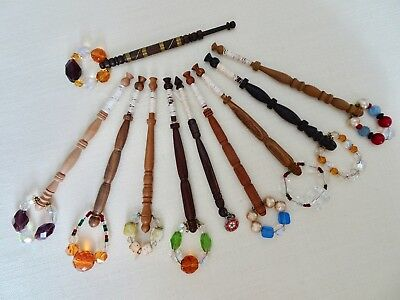 Ten Various nicely Turned Wood Lace Maker's Bobbins