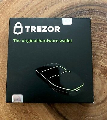 Trezor Hardware Bitcoin Ethereum Litecoin Wallet  Black - Sealed In box