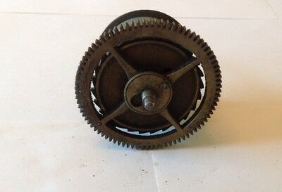 Antique LongCase Grandfather Clock Drive Wheel Cog Weight Driven 74mm