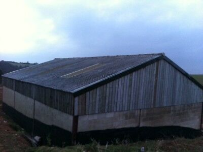 Agricultural Building Farm Shed 45ft x 30ft Sheep Cattle Machinery Steel Frame