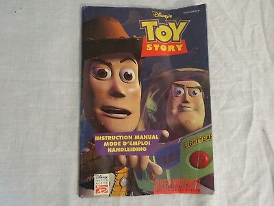 SNES Super Nintendo Game Instruction Manual Only Toy Story