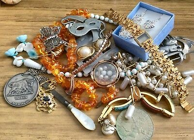 Mixed Lot Of Vintage,antique & Modern Items,jewellery Etc