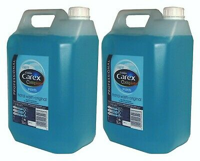 2 x 5Ltr Carex Original Professional Anti Bacterial Liquid Hand Soap Wash