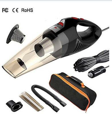 Car Vacuum Cleaner,100W Powerful Suction, HEPA Filter, 5m Cable,  DC 12V