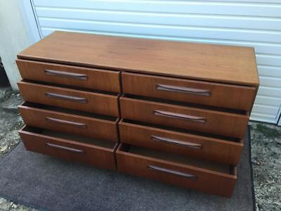 Vintage G Plan 'fresco' Teak & Afromosia 8 Drawer Chest In Very Good Condition
