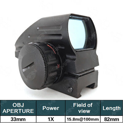 Red Green Dot Tactical Holographic Sight 4 Reticle 20mm Picatinny Rail Mount