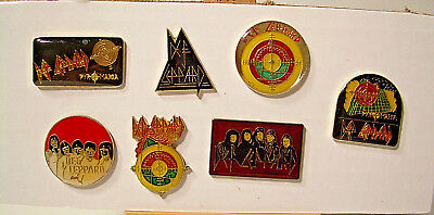 Def Leppard Vintage Enamel Pins from the 80's