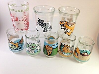 Vintage Welchs jelly glasses mixed lot of 8