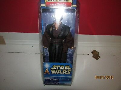 "Star Wars Fully Poseable Anakin Skywalker New In Box 2002 Lucasfilm 12"" Tall MIP"
