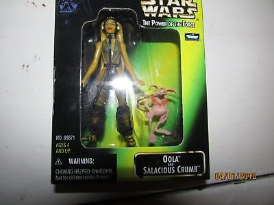 Star Wars Power of the Force Oola & Salacious Crumb New In Box Green Card