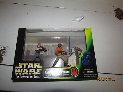 Star Wars Power of the Force Cantina Showdown 3 figures New In Box 1997 Hasbro