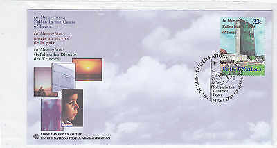 Uno New York 826 Fdc 1999 Frieden Peace New York Center United Nation