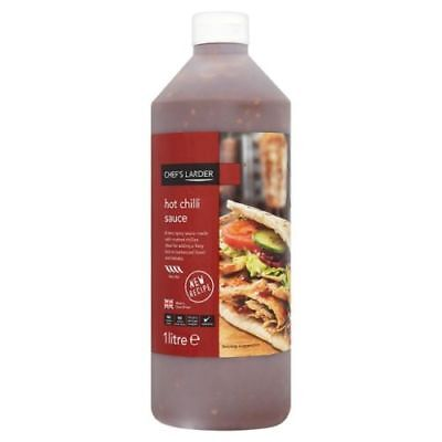 Chilli Sauce Squeezy 1 litre Bottle - Takeaway style -Use on Kebabs,Chips,Pizzas
