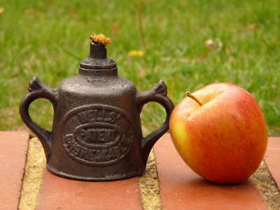 Wells Patent Unbreakable Cast Iron Engineers Antique Oil Lamp