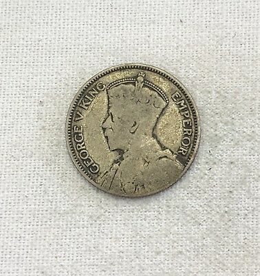 1935 Fiji Shilling Silver Foreign Coin