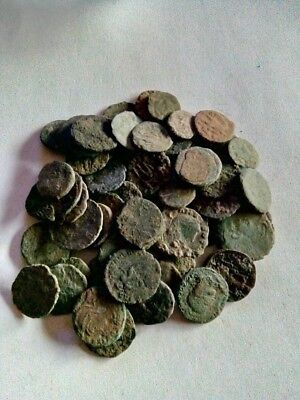 081.Lot of 60 Ancient Roman Bronze Coins,Uncleaned