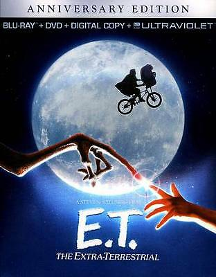 ET THE EXTRA-TERRESTRIAL  Blue ray/DVD Anniversary edition. New, Free Shipping