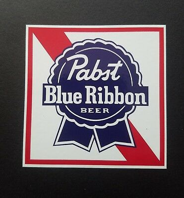 3 new Pabst Blue ribbon Stickers beer decals truck bumper laptop