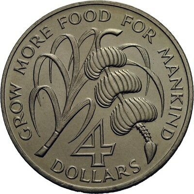 LANZ Dominica 4 Dollars 1970 FAO Food for all #WV1788