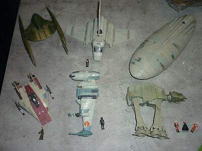 HASBRO STAR WARS EPISODE I , 6 Raumschiffe mit Figuren