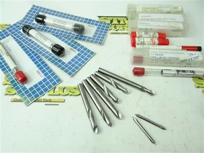 """New! Lot Of 11 Solid Carbide Spotting Drills 5/16"""" To 3/8"""" Keo Usa-Tru"""