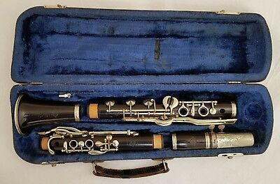 H. SELMER Paris Albert System Bb Clarinet 3 pads in row. L.P. 440Hz.George Lewis