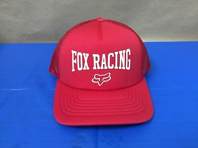 New Fox Men's Red 4 Ever Trucker Hat One Size Fits All 21519-179-OS