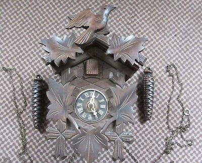 Vintage cuckoo clock - untested - for restoration