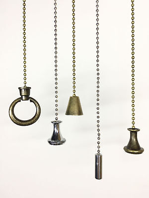 Light Pull Chain Cord Bronze Chrome Weight Bathroom Ceiling Switch 100cm Chain
