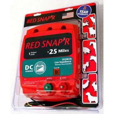 NEW Red Snap'r EDC25M-RS Low Impedance DC Powered Fencer Fence Charger