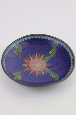19th Century Chinese Small Cloisonne Bowl 9.5cm Diameter