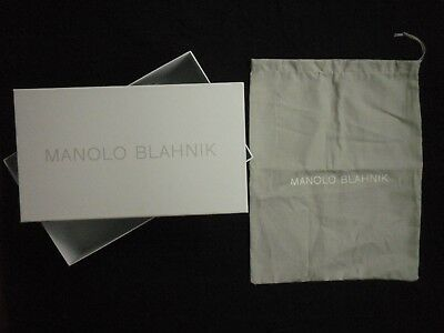 Manolo Blahnik shoe box and dust bag from pumps empty
