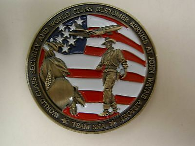 Challenge Coin JOHN WAYNE AIRPORT Homeland Security TSA