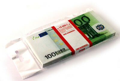 100 euro SOUVENIR MONEY, BANKNOTE 1 Pack (Size:155*75mm, 95-100pcs).NEW.