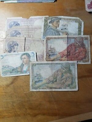 France/French Paper Currency Lot