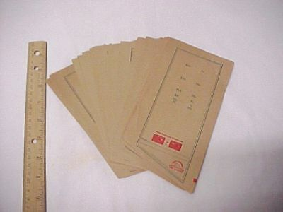 Over 25 Vintage Automatic Coin Wrapper Papers Patent 1921