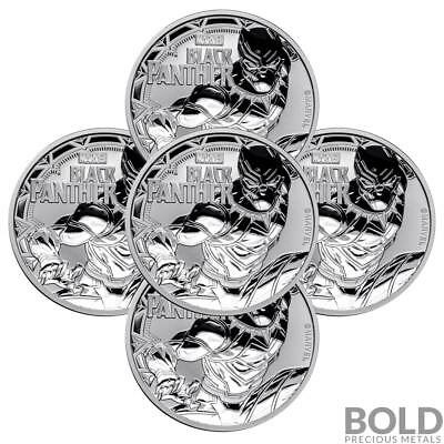 2018 Silver 1 oz Tuvalu Black Panther (5 Coins)