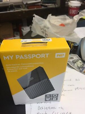 Western Digital My Passport 4TB External (WDBYFT0040BBK-WESN) NEW