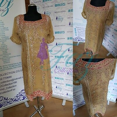 Heavy Pakistani bridal kameez & pleated sharara stone outfits