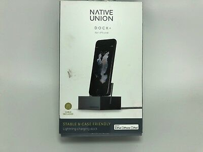 Native Union Charging DOCK for Iphone XS X 8 7 6S Plus SE 5S 5 Gray Lighting